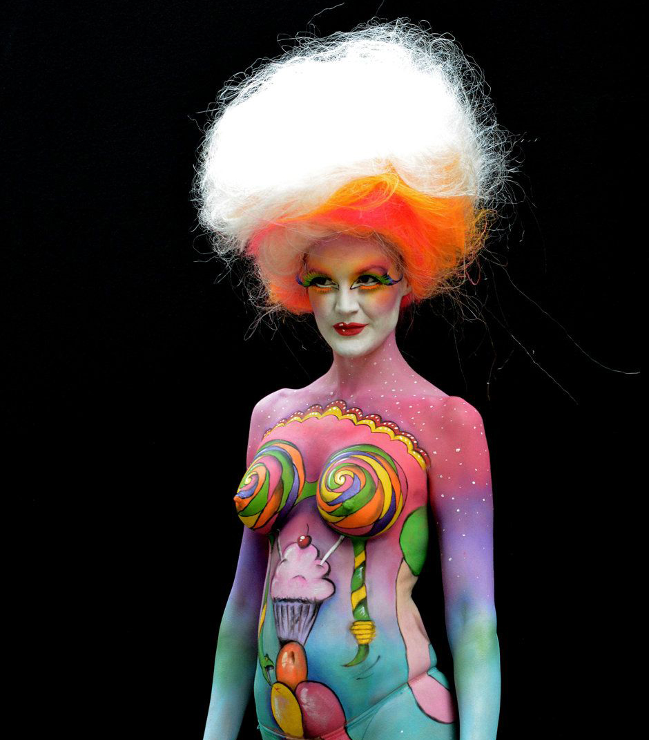 El arte del Body painting llega a Carlos Paz
