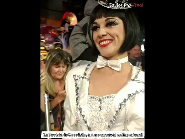 """""""La revista de Cocodrilo"""" brilló con su baile de Carnaval en la peatonal"""