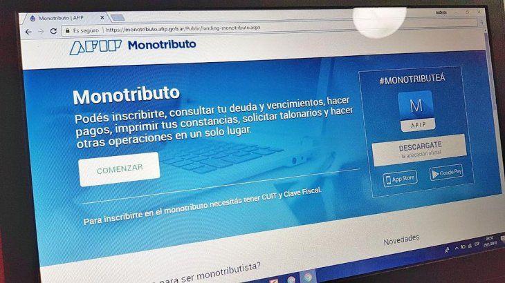 AFIP: ningún monotributista será dado de baja del régimen por falta de pago