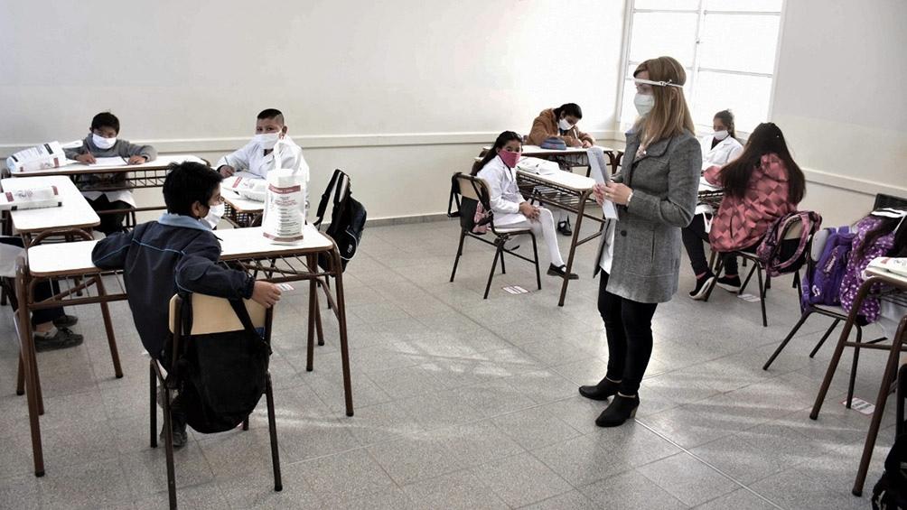Volvieron las clases presenciales en San Juan