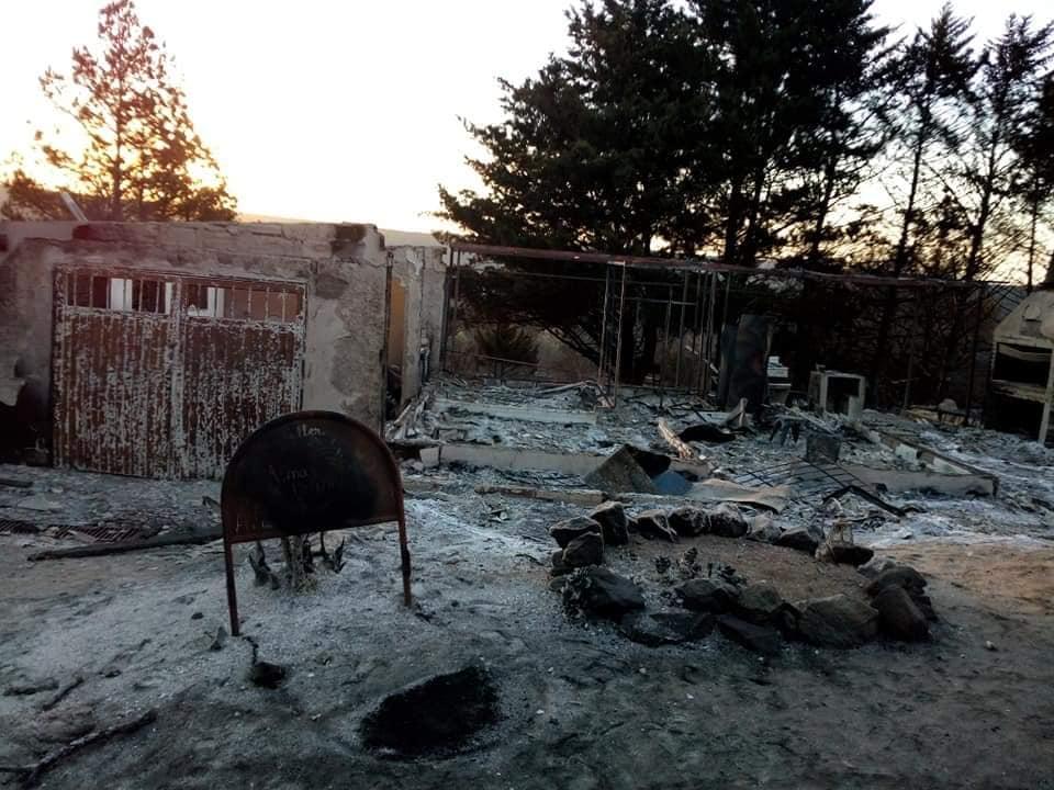 El dueño de la casa quemada en Giardino: Tuve que dejar que se prenda y perder todo