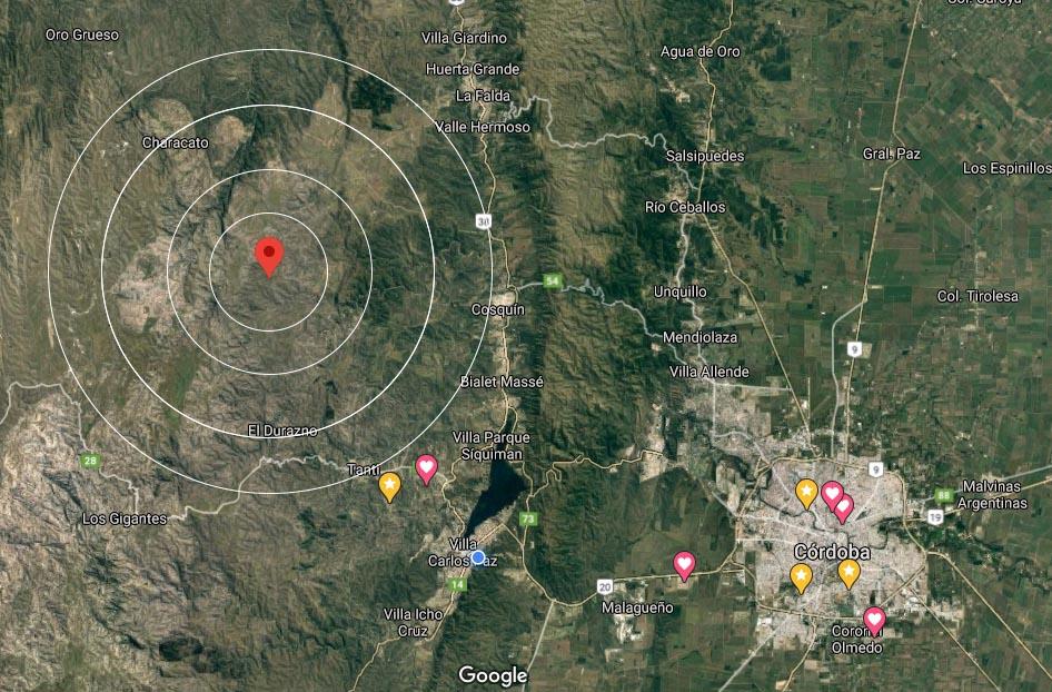 Un fuerte sismo se hizo sentir en Punilla