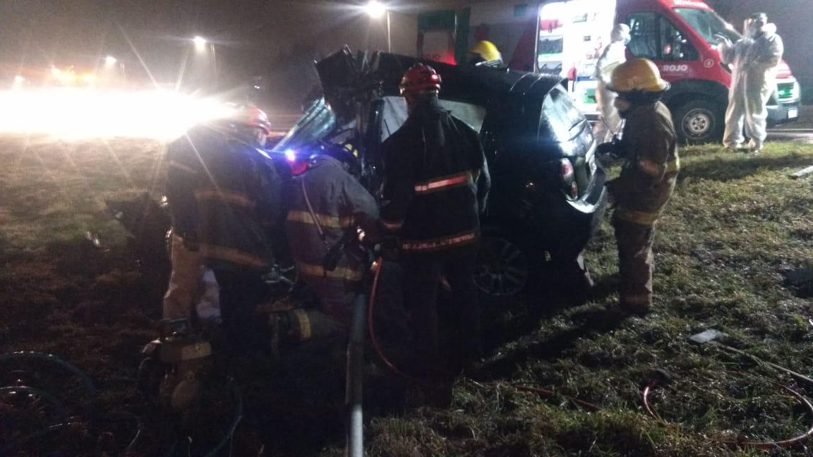 Joven de Carlos Paz despitó en la autopista y resultó herido