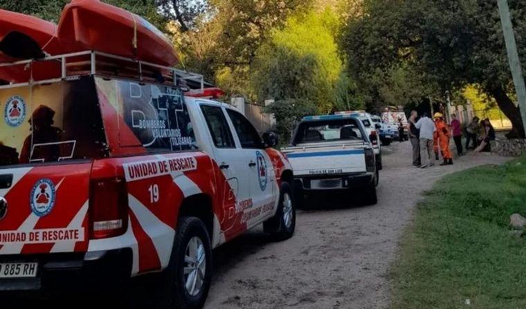 Por la crecida de un arroyo en San Luis, una mujer perdió la vida