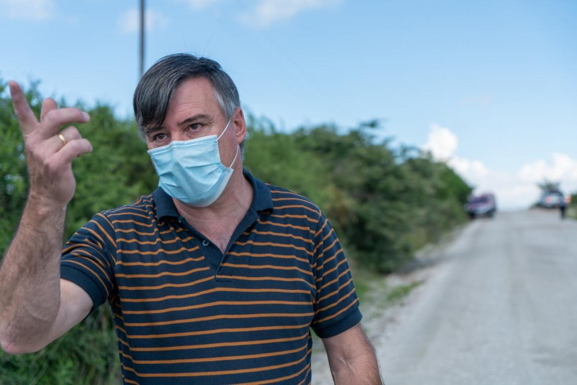 El secretario de Gestión de Riesgo Climático y Catástrofes de la Provincia Claudio Vignetta