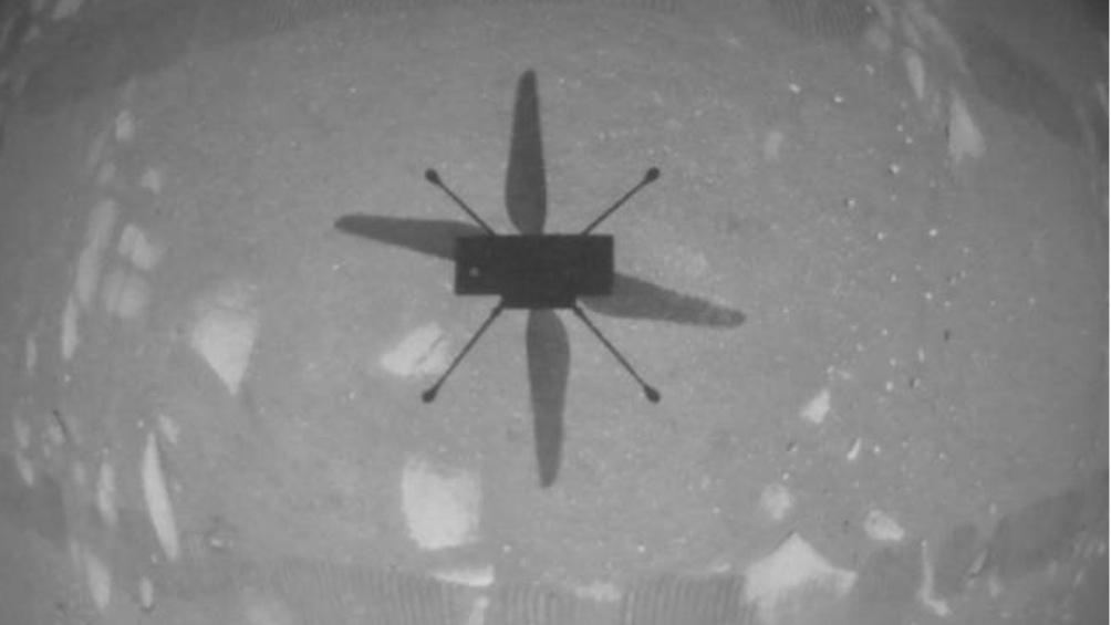 Histórico: El helicóptero Ingenuity logró volar sobre la superficie de Marte