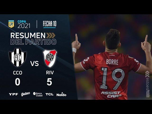 River le hizo 5 a Central Córdoba: mirá los goles