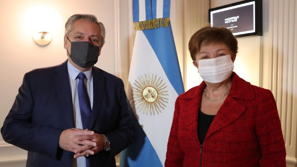 """Fernández, tras el encuentro con la titular del FMI: """"La reunión fue muy constructiva"""""""