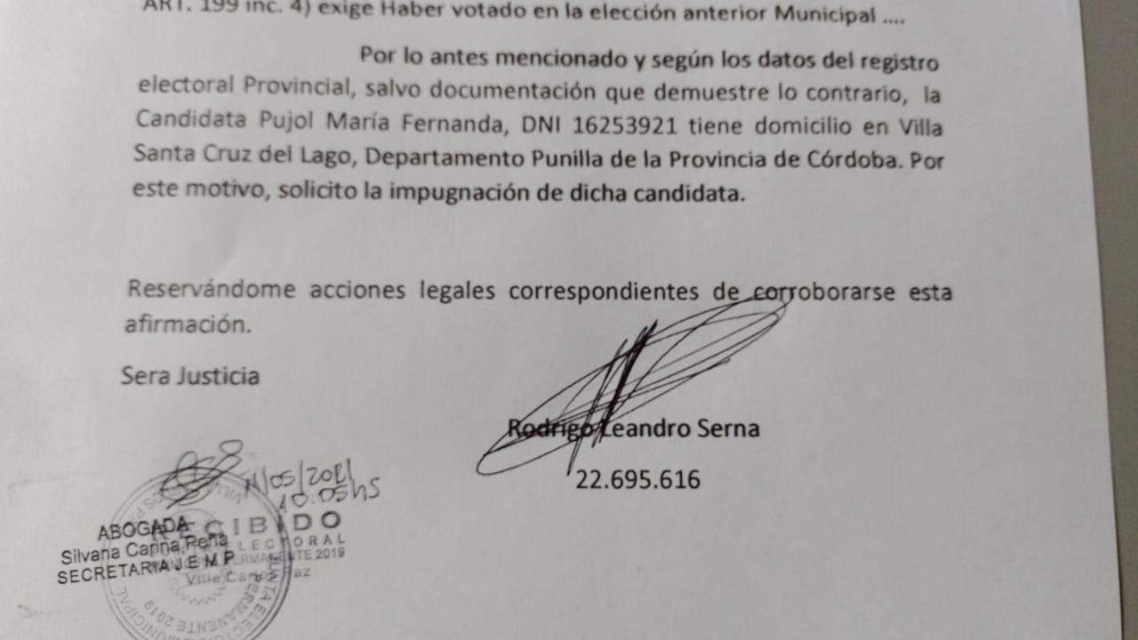 Serna impugnó la lista de Pujol para la Defensoría del Pueblo