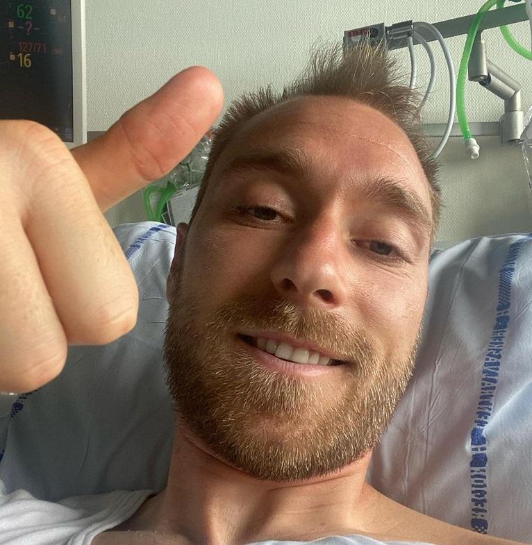 Sigue internado: Christian Eriksen se refirió a su estado de salud