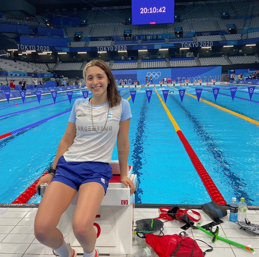 Tokio 2020: Delfina Pignatello tuvo su debut olímpico en los 1500 metros libres
