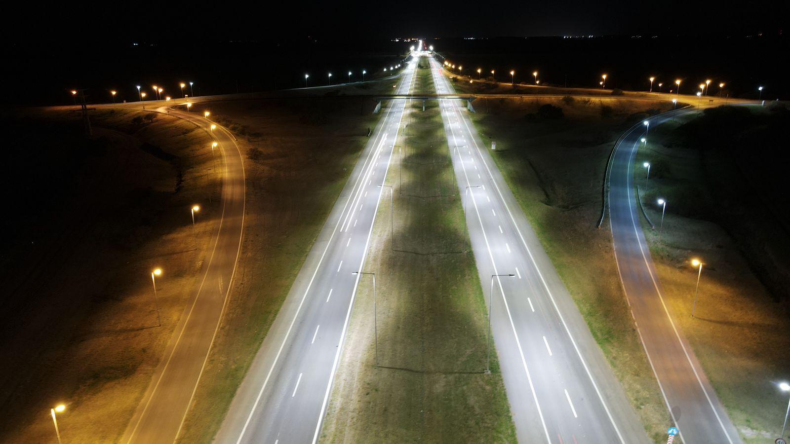 Habilitaron un tramo de iluminación en la Autopista Córdoba-Rosario