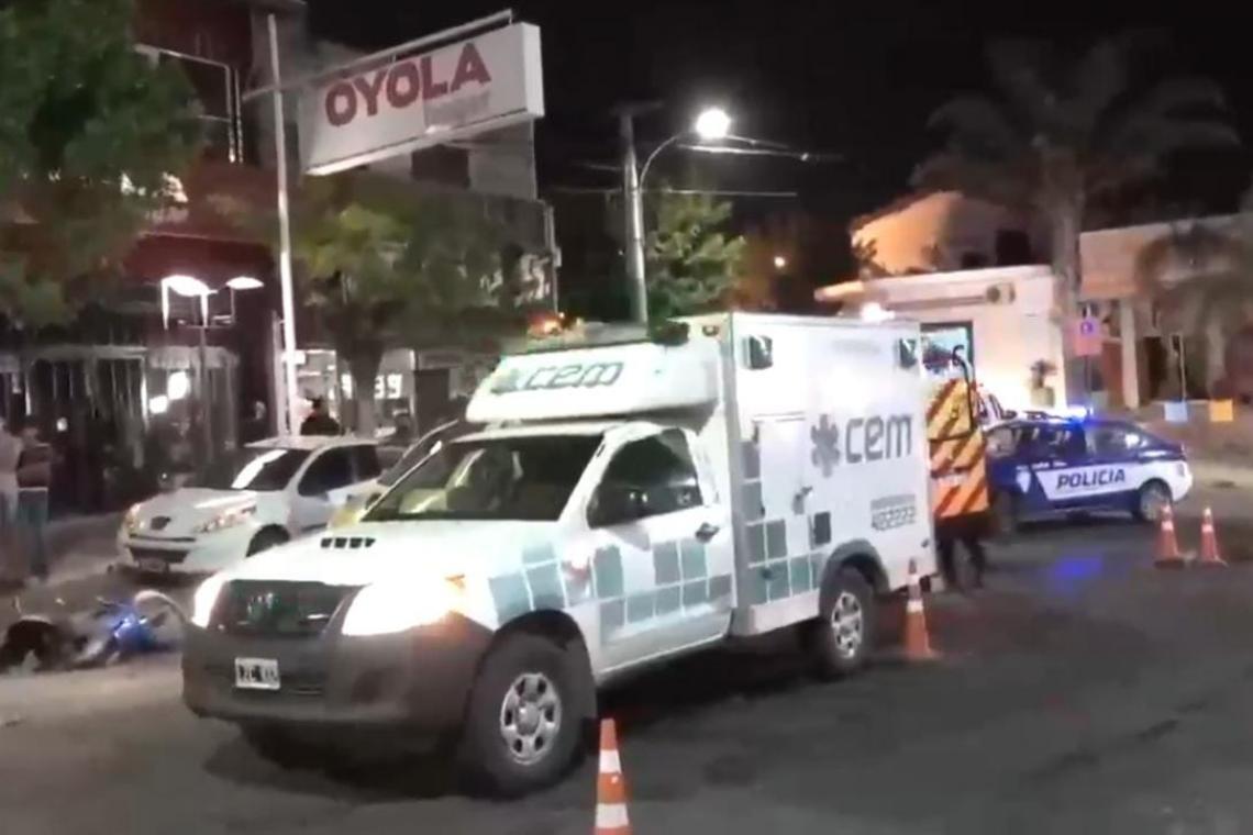 Dos mujeres heridas en un choque en La Falda